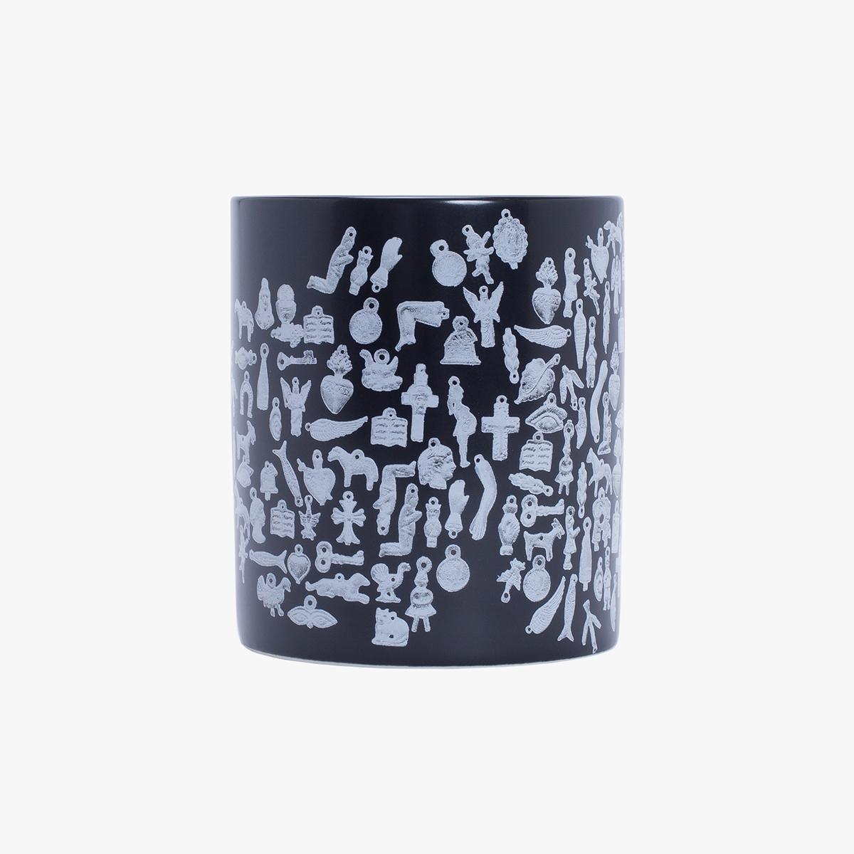 Reversible Nylon Bomber – Jet Black / Collage Art