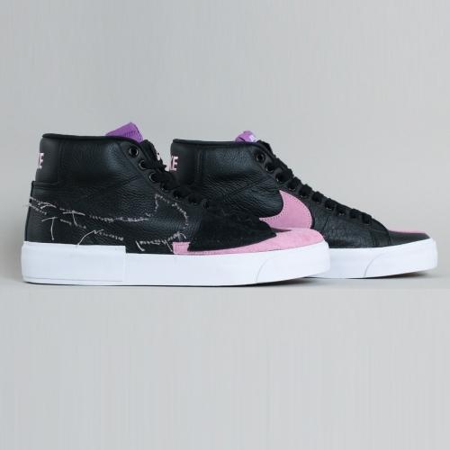 Nike – Blazer Mid Edge – Black / Pink / White –...