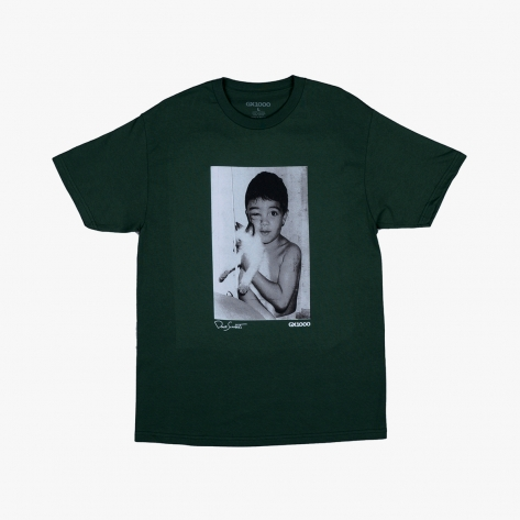 GX1000 - Stray Cat Tee - Forest Green