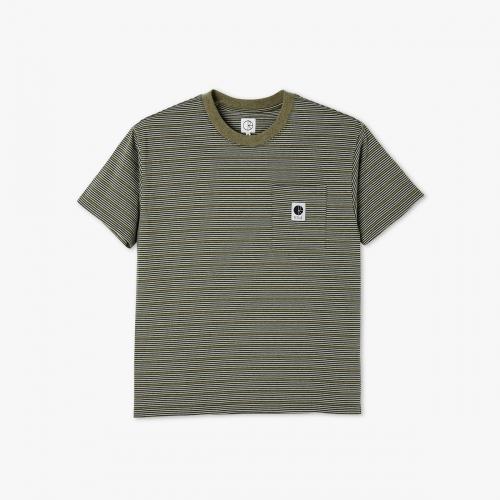 Polar - Stripe Pocket Tee - Army Green