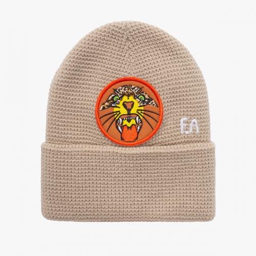Fucking Awesome - Tiger Cuff Beanie - Tan