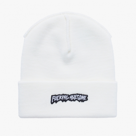 Fucking Awesome - Little Stamp Cuff Beanie - Ivory