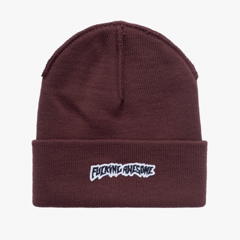 Fucking Awesome - Little Stamp Cuff Beanie - Brown