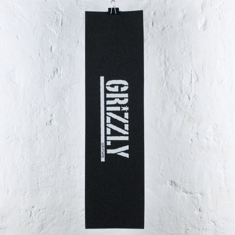 Grizzly – Stamp Print – White