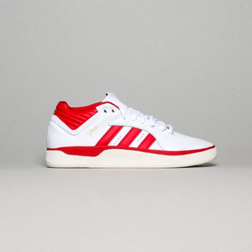 Adidas – Tyshawn – White / Scarlet