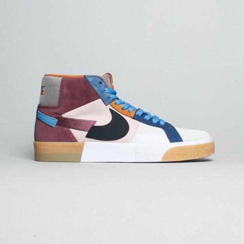 Nike – Blazer Mid Prenium – Wine / Blue / Gum –...