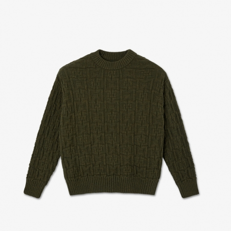 Polar - Square Knit Sweater - Army Green