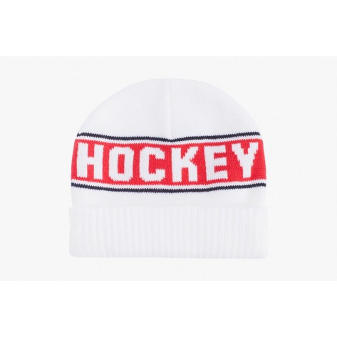 Hockey - Hockey Stripe Beanie - White