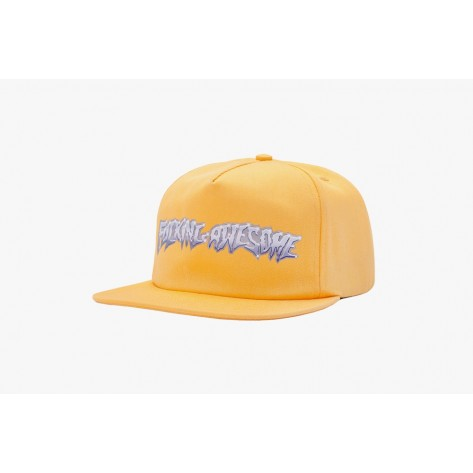 Fucking Awesome - Chrome 5-Panel Cap - Gold
