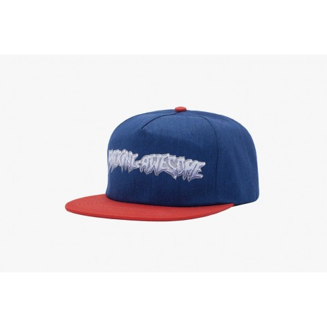 Fucking Awesome - Chrome 5-Panel Cap - Navy / Red