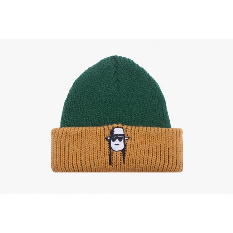 Fucking Awesome - Spike Beanie - Green / Yellow