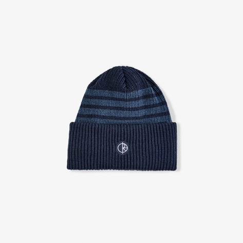 Polar - Double Fold Merino Beanie – Navy Stripe