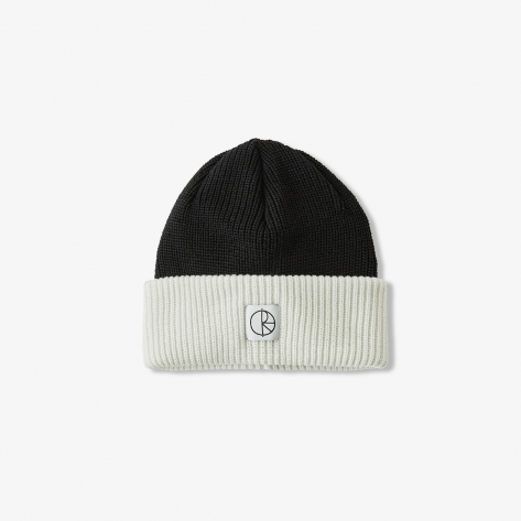 Polar - Double Fold Merino Beanie - Black/White