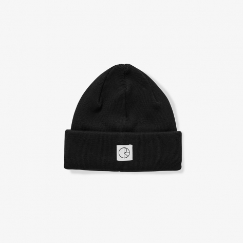 Polar - Double Fold Cotton Beanie - Black
