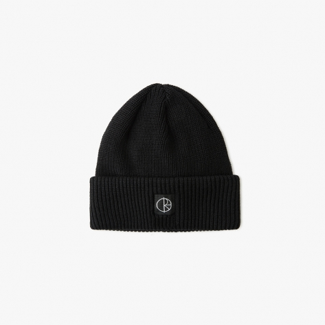 Polar - Double Fold Merino Beanie - Black