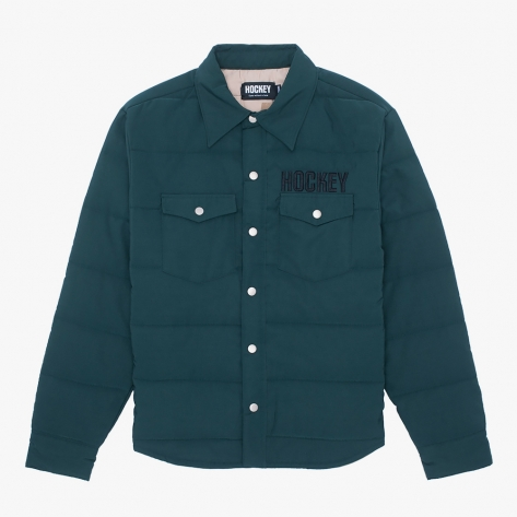 HOCKEY - Hockey Down Snap Shirt - Dark Green