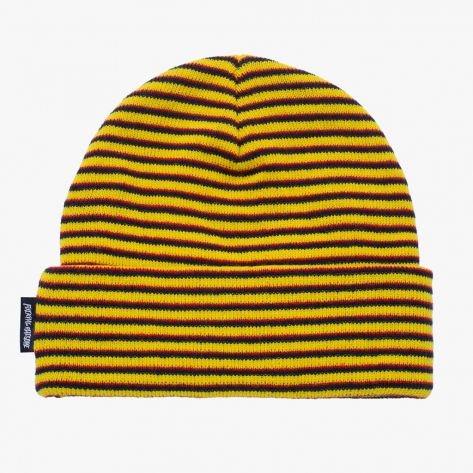 Fucking Awesome - Striped Cuff Beanie - Navy /...