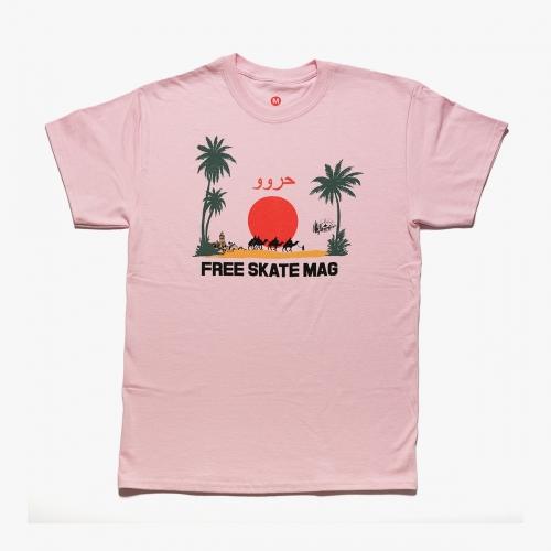 Free Skatemag – Marrakech – Tee Pink